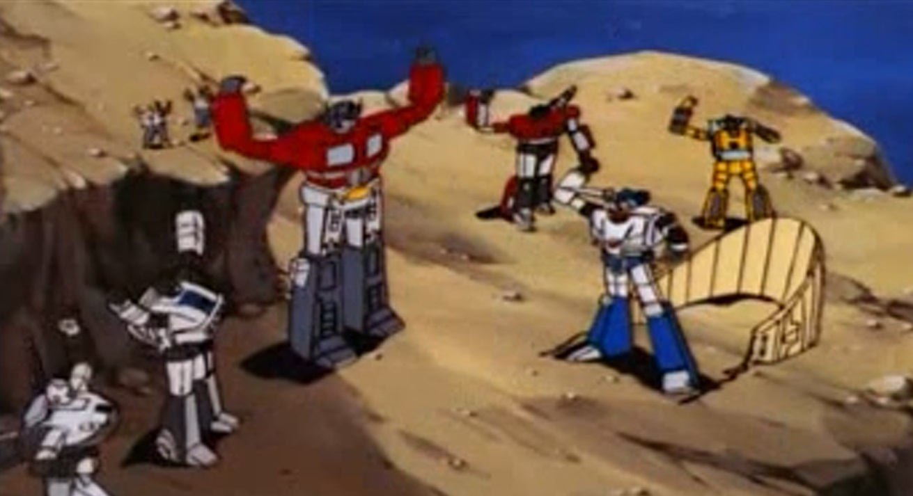 The Autobots celebrate good times!