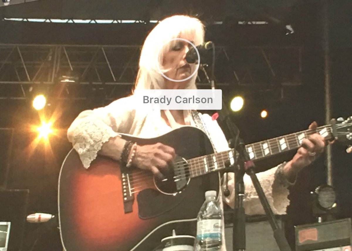 A photo of Emmylou Harris that Amazon Prime Photos tagged as me.