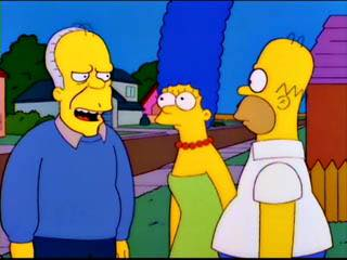 Gerald Ford meets Marge and Homer Simpson