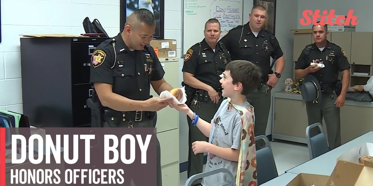 Donut Boy Honors Officers