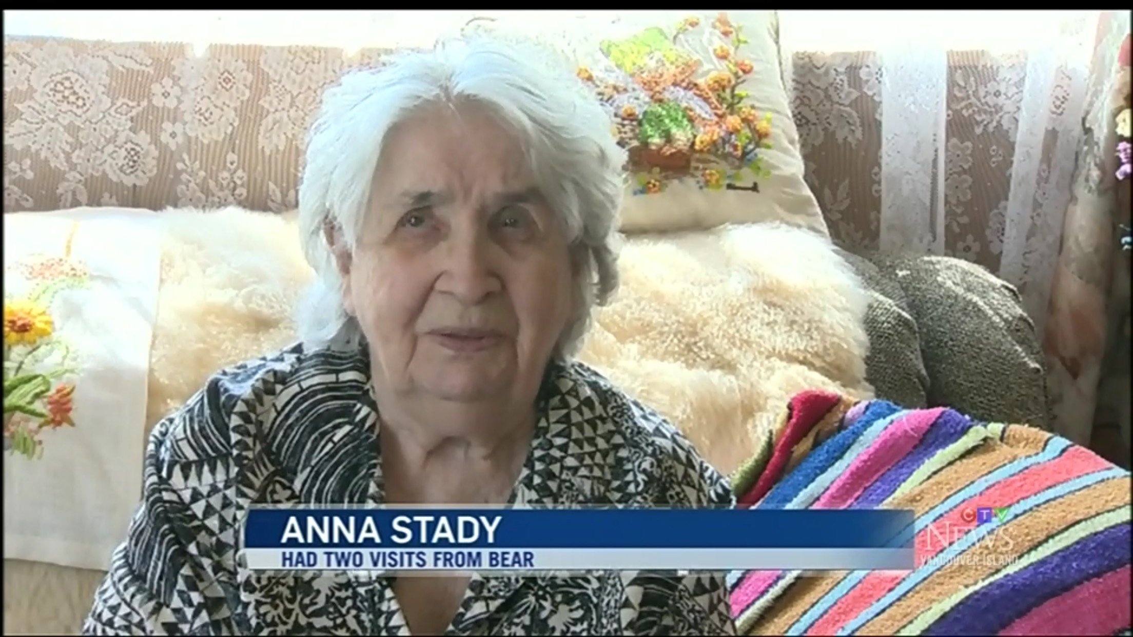 Anna Stady: Had Two Visits From Bear