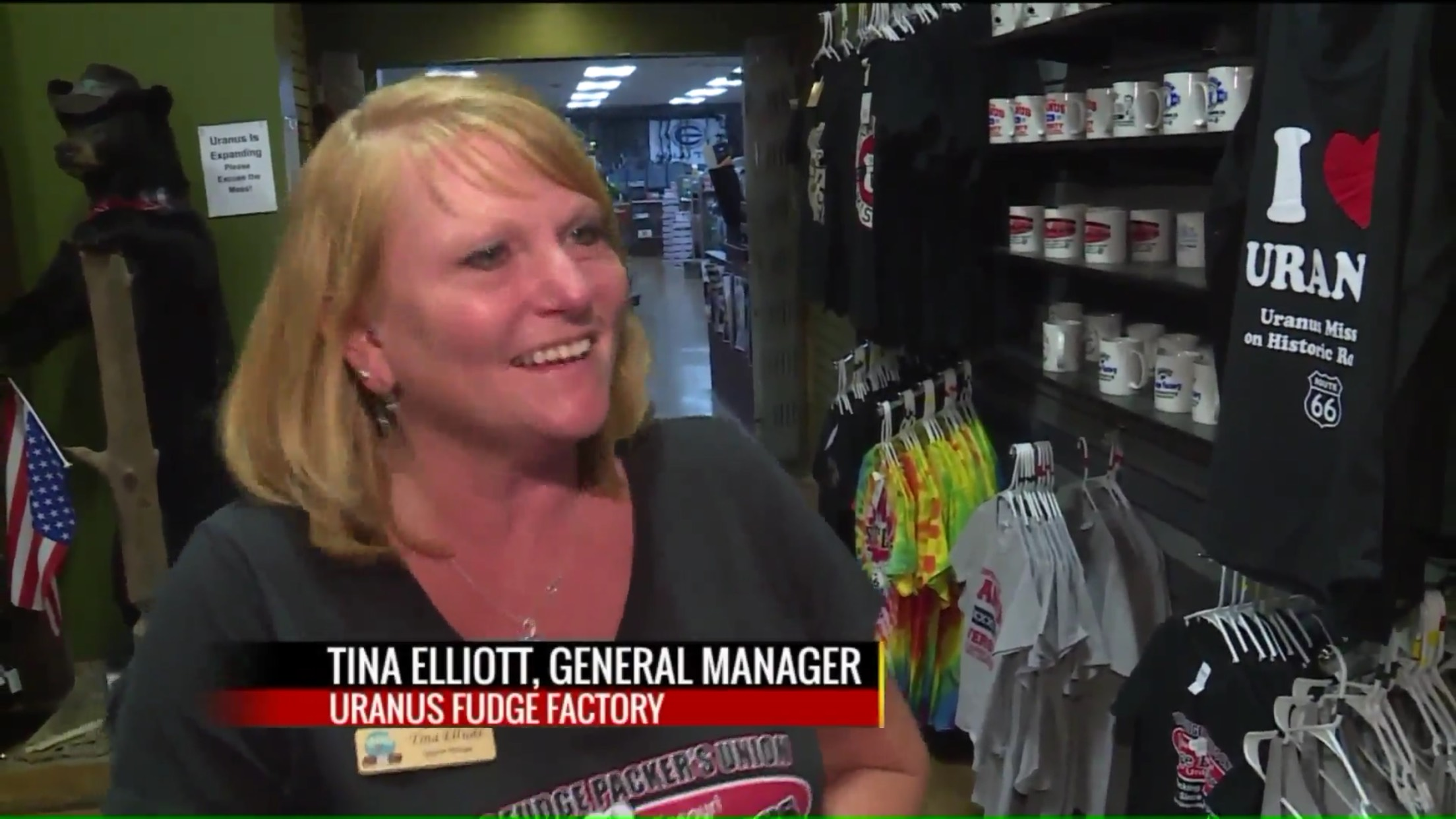 Tina Elliott, General Manager, Uranus Fudge Factory