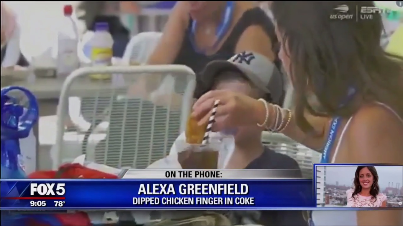 Alexa Greenfield: Dipped Chicken Finger Into Coke