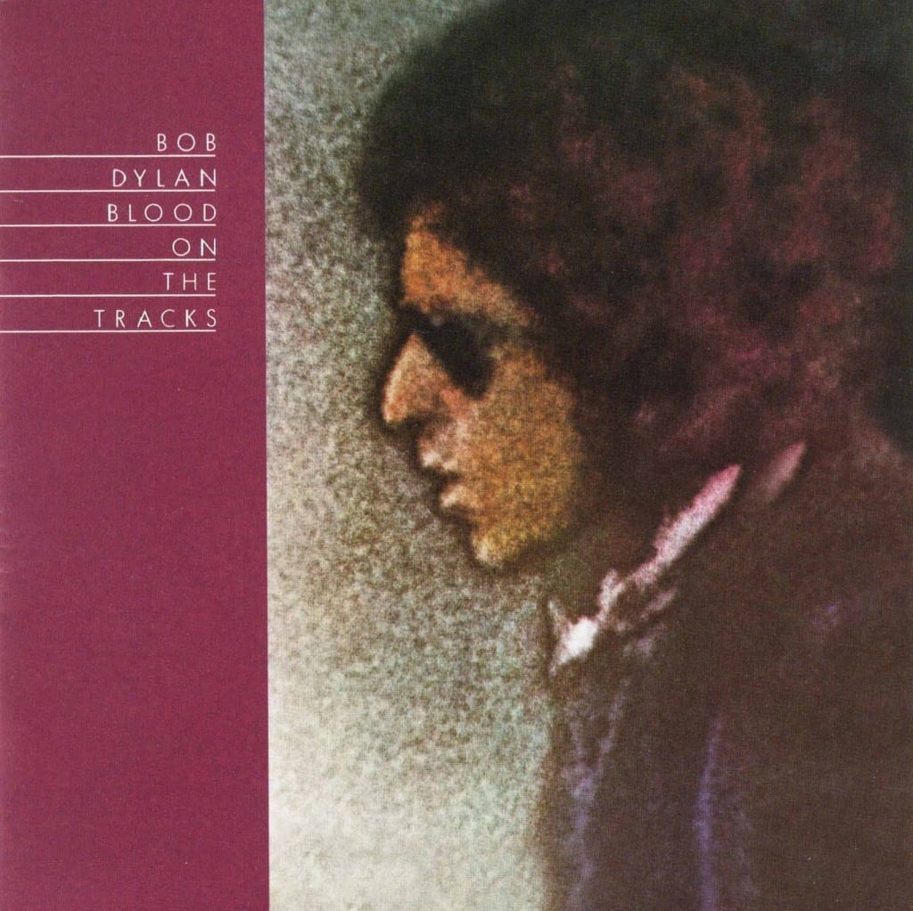 "Cover of Bob Dylan's ""Blood on the Tracks"" album"