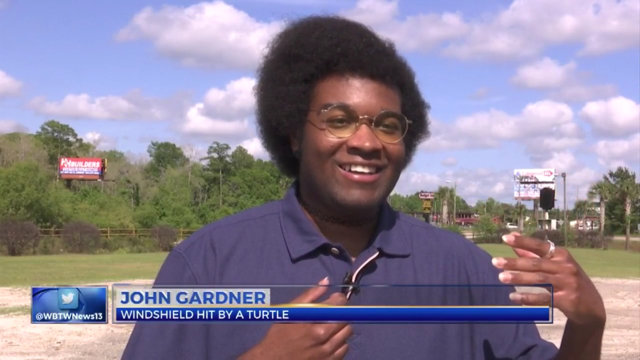 John Gardner: Windshield Hit By A Turtle