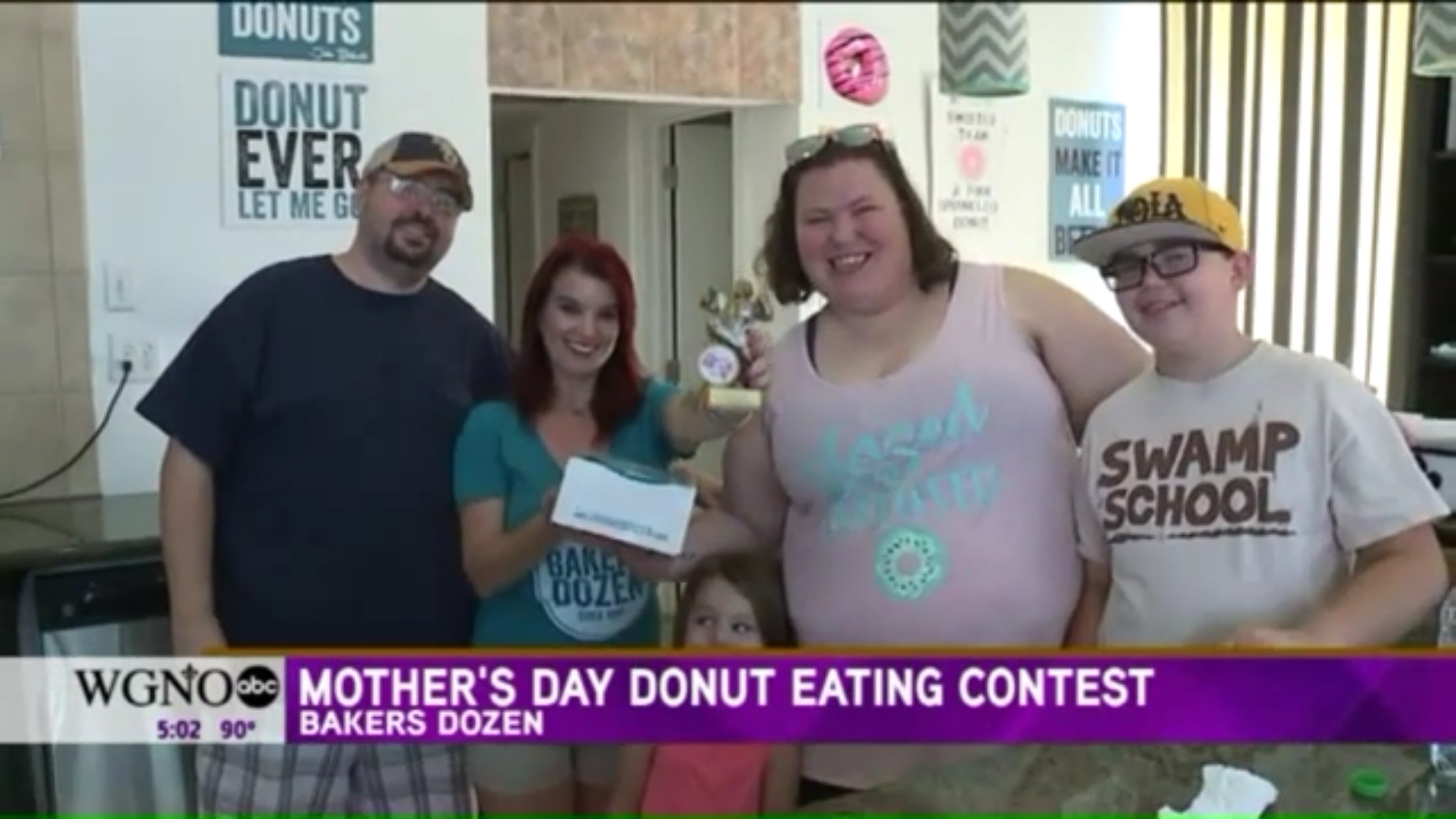 Mother's Day Donut Eating Contest