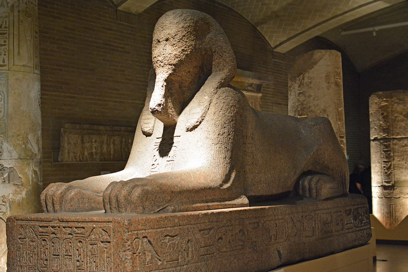 The Sphinx at the Penn Museum (photo by Peter Miller via Flickr/Creative Commons https://flic.kr/p/o9jh8m)