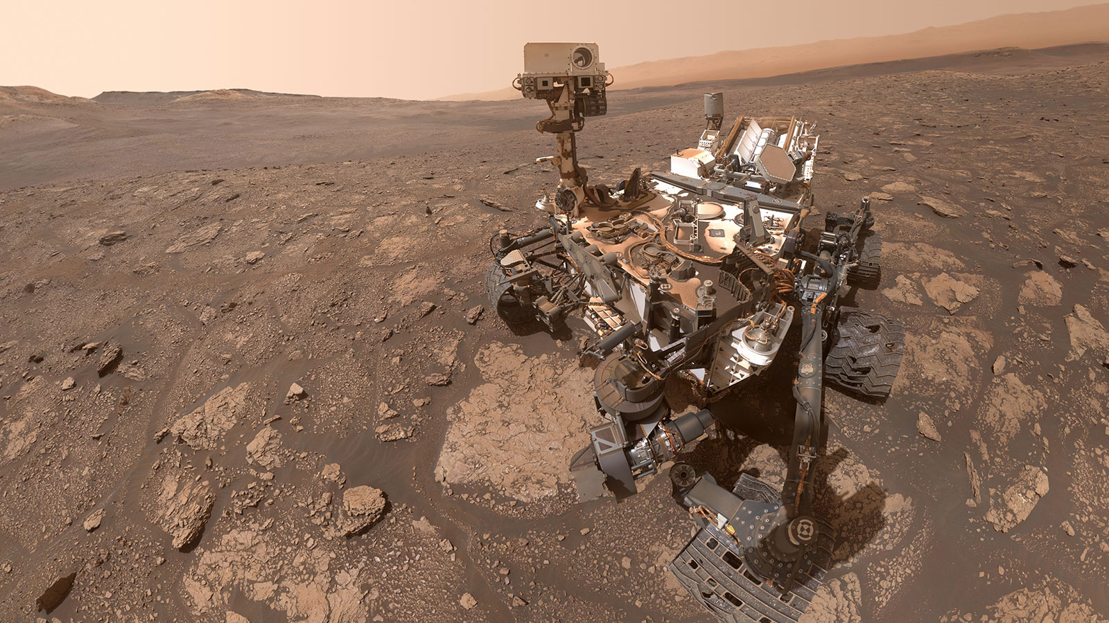 Curiosity's Selfie at the 'Mary Anning' Location on Mars. (NASA/JPL-Caltech/MSSS)