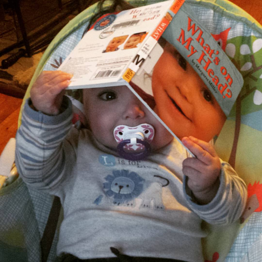 """Baby boy puts """"What's On My Head?"""" on his head"""