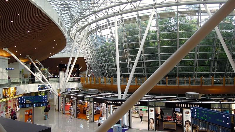 An enclosed section of rainforest inside Kuala Lumpur International Airport. (Photo by David McKelvey via Flickr/Creative Commons https://flic.kr/p/g4k6GS)
