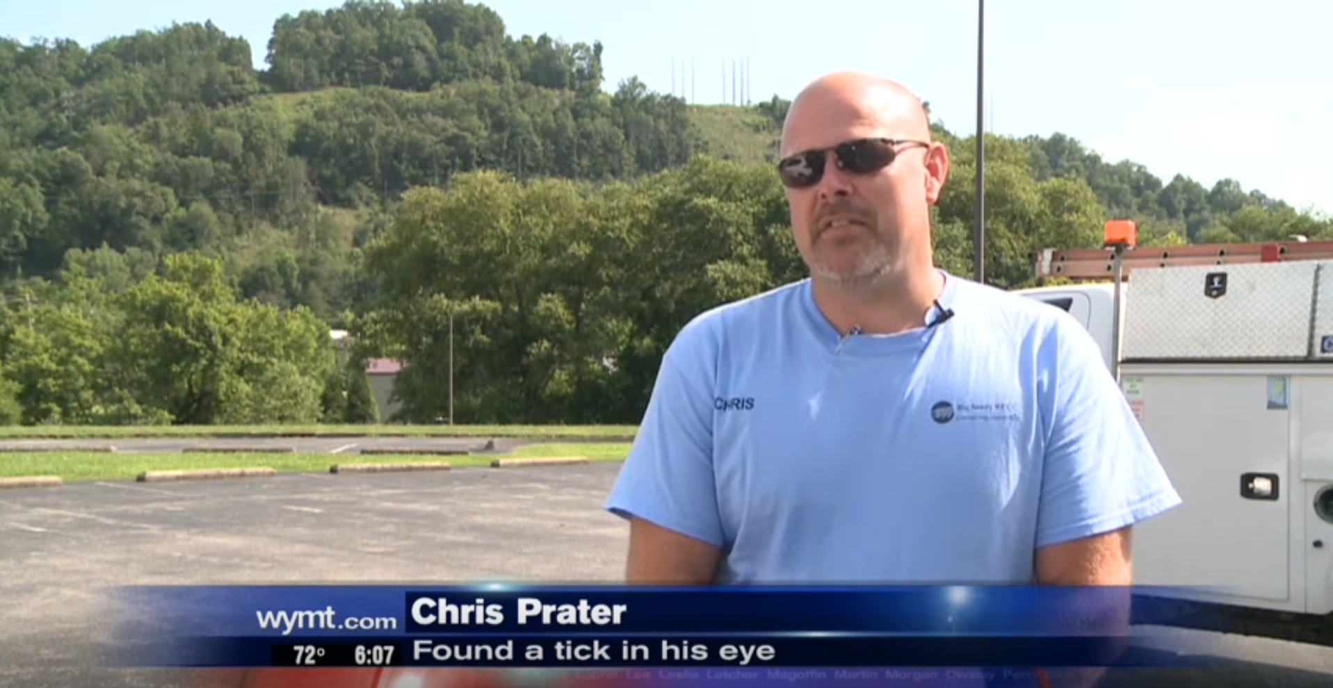 Chris Prater: Found A Tick In His Eye