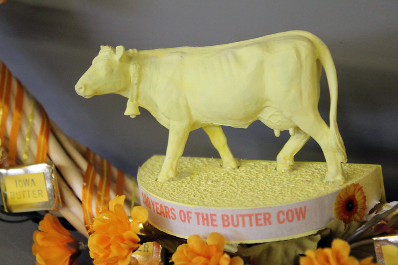 Butter cow sculpture (photo by Quinn Dombrowski via Flickr/CC)