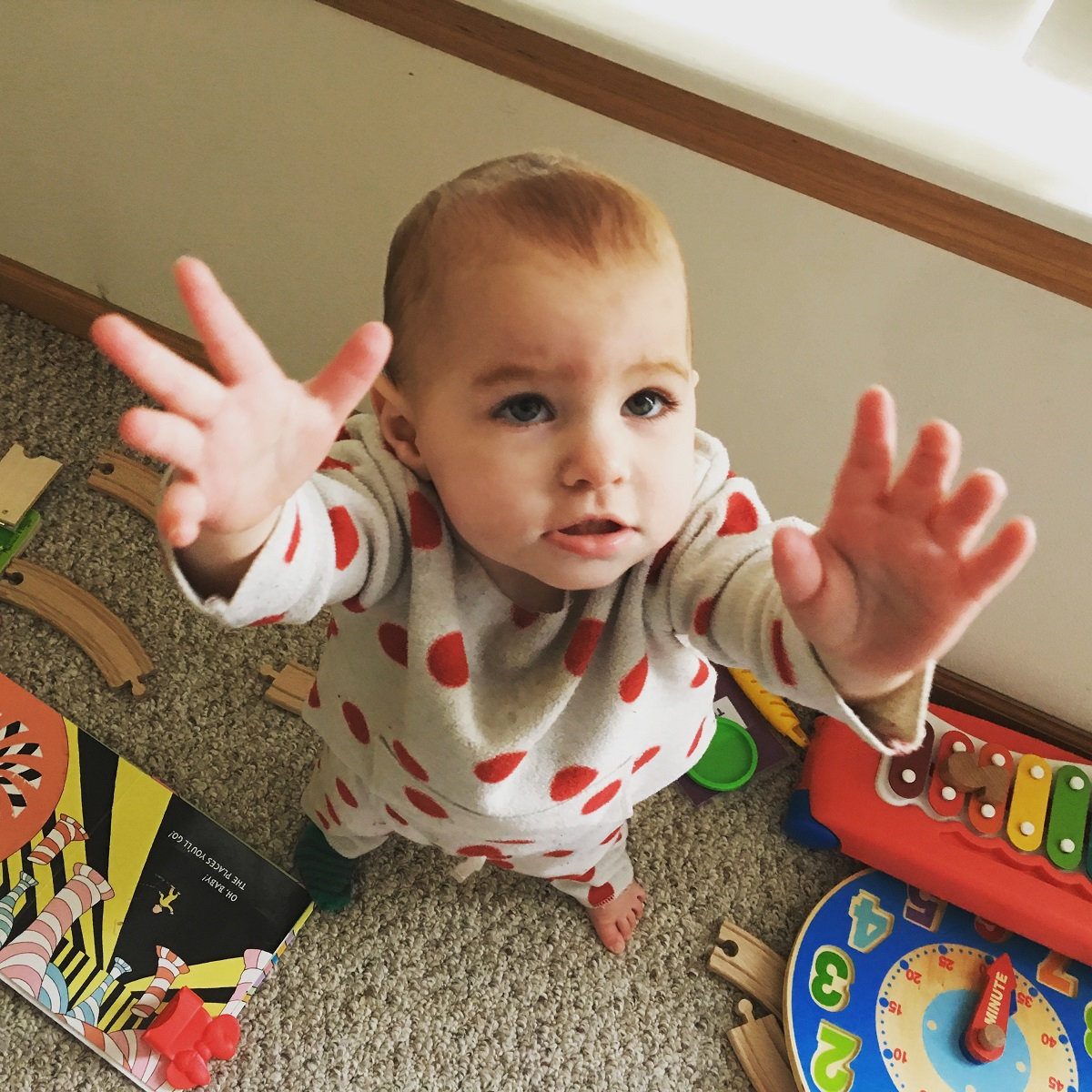 One year old wants up