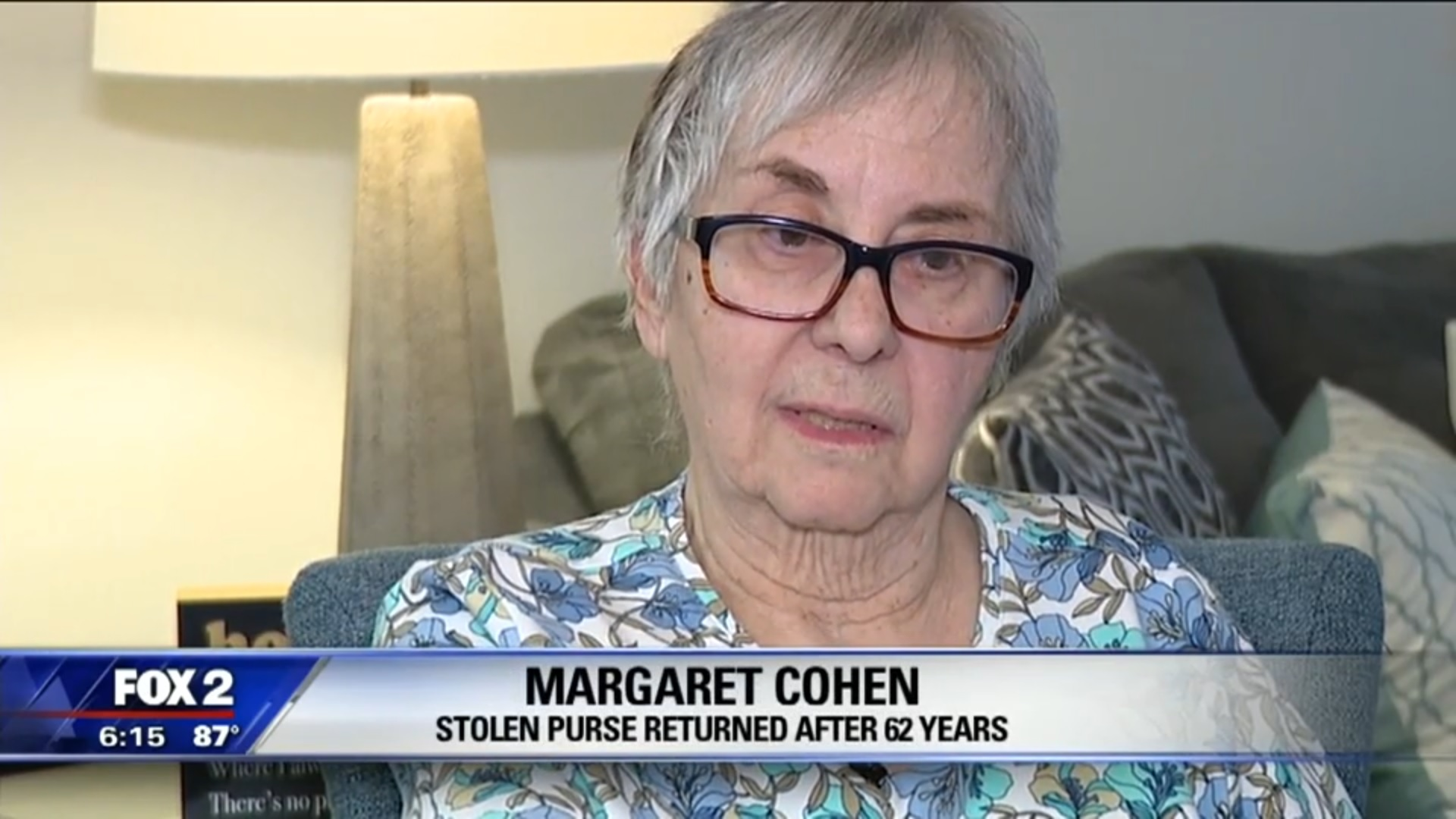 Margaret Cohen: Stolen Purse Returned After 62 Years