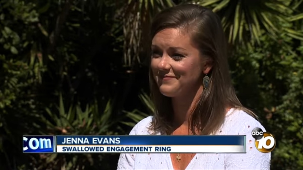 Jenna Evans: Swallowed Engagement Ring