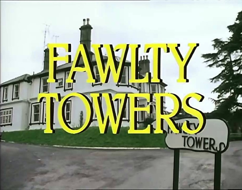 Opening title screen for Fawlty Towers