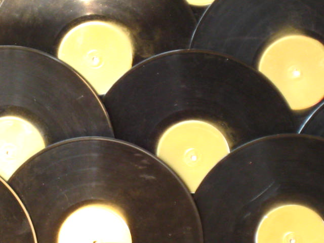 Vinyl records, arranged artistically. (Photo by Donnie Ozone via Flickr/Creative Commons https://flic.kr/p/duu53y)