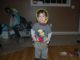 Two year old in his builder costume