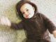 Baby girl in her baby bear costume