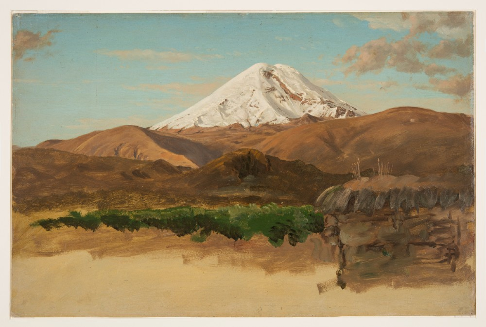 Mount Chimborazo painted by Frederic Edwin Church, via Cooper Hewitt, Smithsonian Design Museum https://www.si.edu/object/mount-chimborazo:chndm_1917-4-1296-b