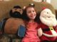 Four year old with Santa and Mr. T