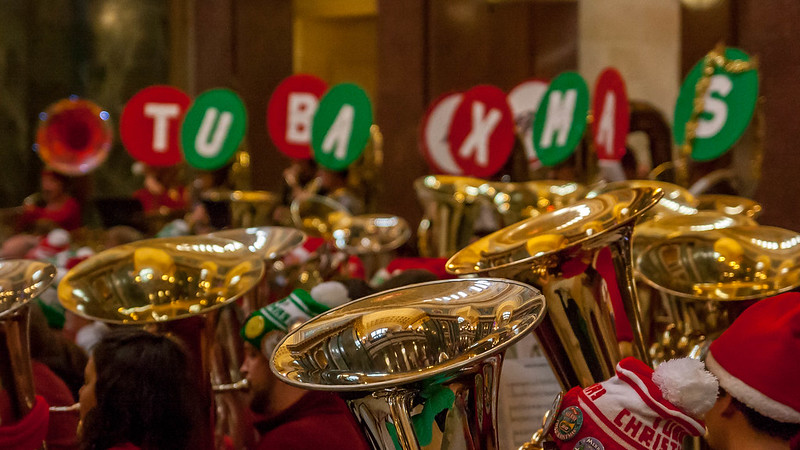 a Tuba Christmas event (photo by Michael Leland via Flickr/CC)