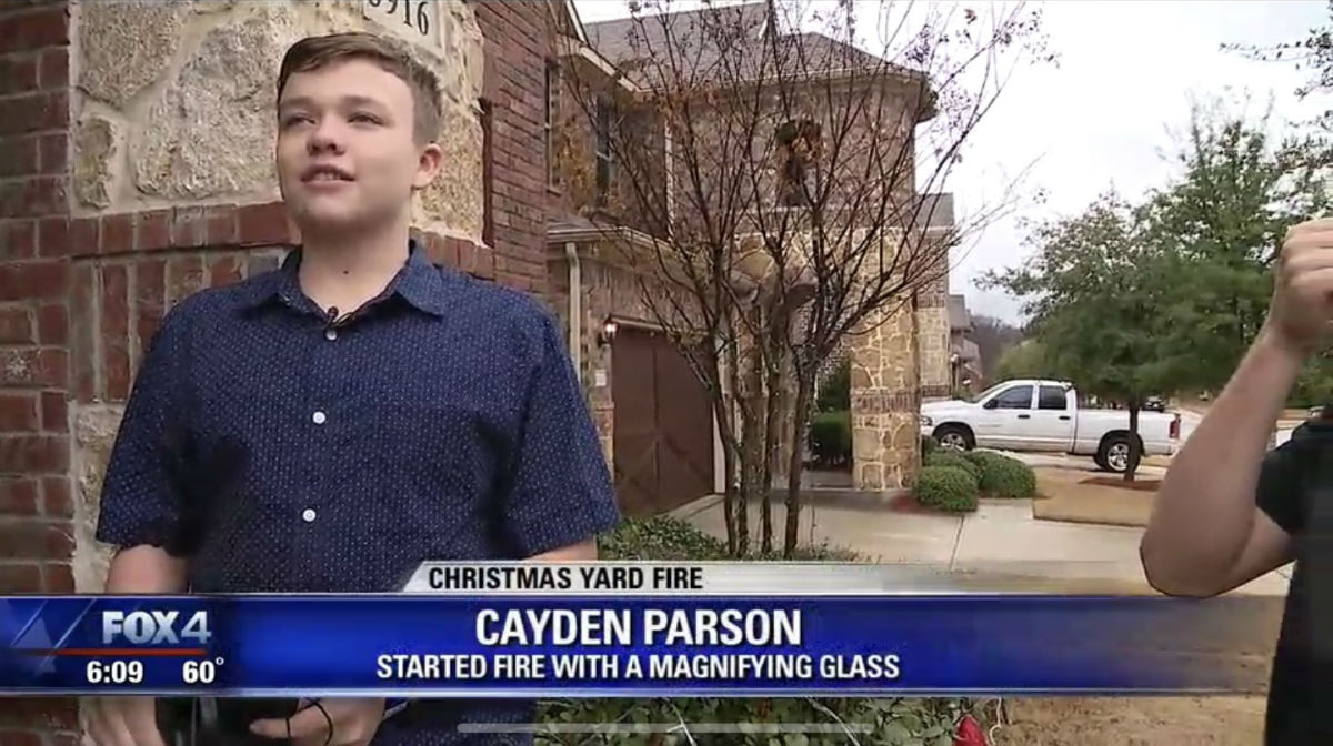 Cayden Parson: Started Fire With A Magnifying Glass