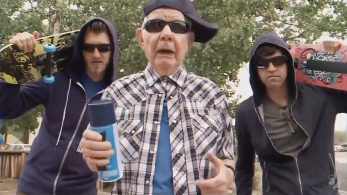 An old guy leads a street gang that wants to spray paint graffiti everywhere
