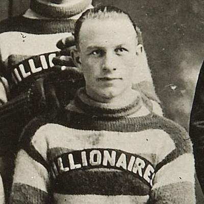 Eddie Shore in a Melville Millionaires jersey, circa 1923-24. (Photo via Wikicommons https://en.wikipedia.org/wiki/Eddie_Shore#/media/File:Eddie_Shore,_Melville_Millionaires.jpg)