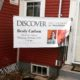 """Discover Brady Carlson"" banner at the house"