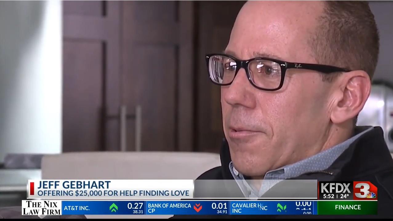 Jeff Gebhart: Offering $25,000 For Help Finding Love