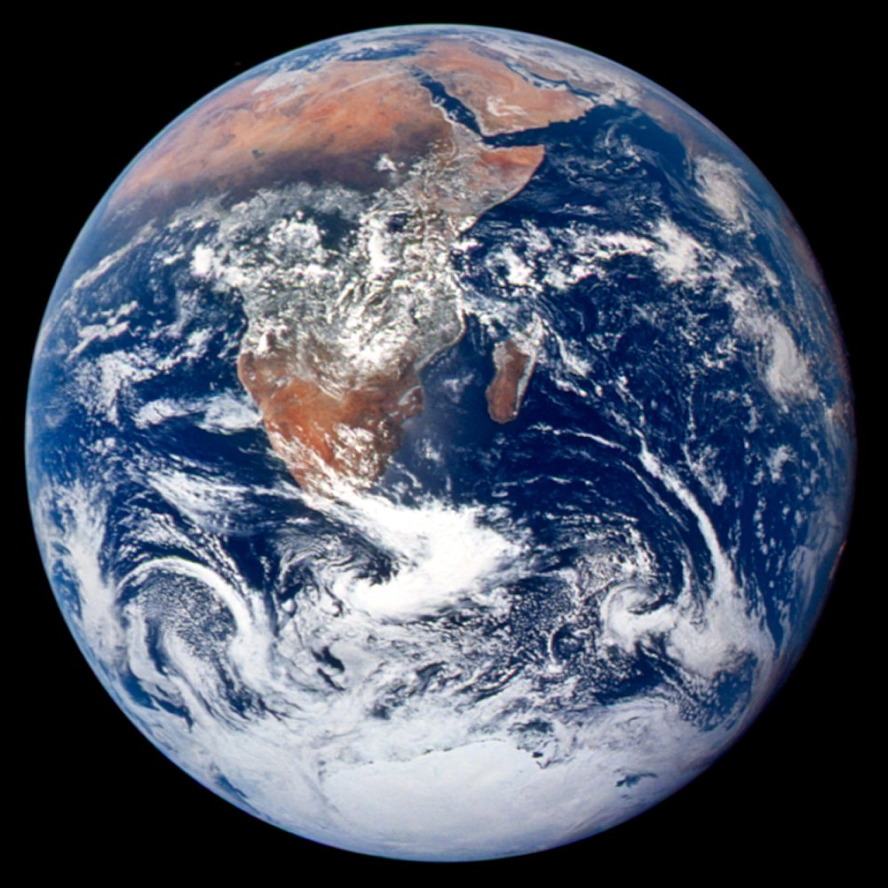 Earth as seen by Apollo 17. (Photo via NASA)