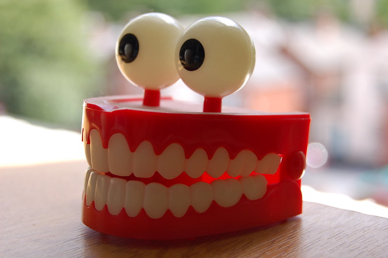 A set of toy teeth with eyeballs on top! (photo by Andy Wright via Flickr/Creative Commons https://flic.kr/p/k2WpS)
