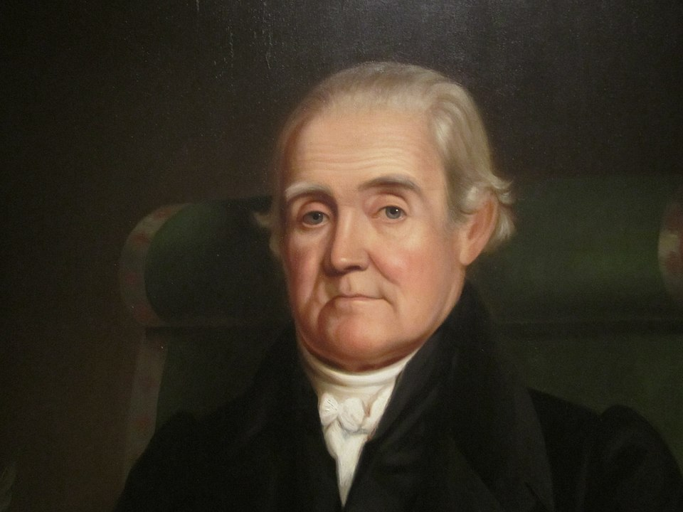 Detail of portrait of Noah Webster by James Herring. National Portrait Gallery, Washington, D.C. via Wikicommons https://commons.wikimedia.org/wiki/File:Noah_Webster_pre-1843_IMG_4412.JPG