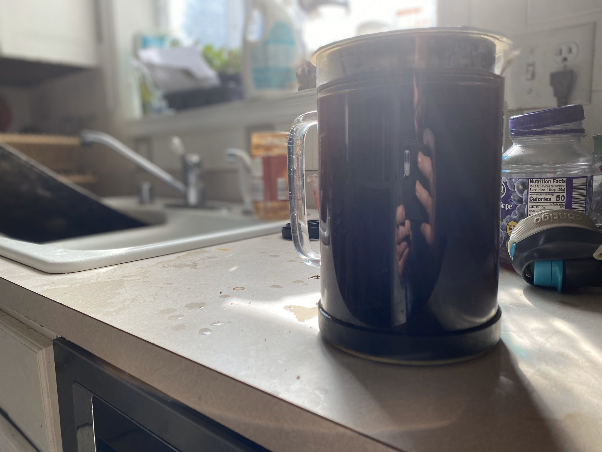 Cold brew is brewing