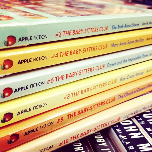 Baby Sitters Club books (photo by Jamie via Flickr/Creative Commons https://flic.kr/p/beF9CT)
