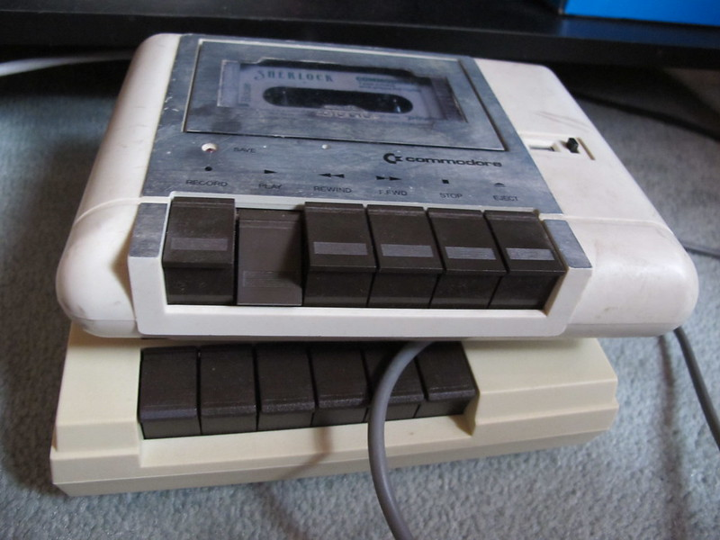 Two tape machines for the Commodore 64. (Photo by Rain Rabbit via Flickr/Creative Commons https://flic.kr/p/bnof2C)