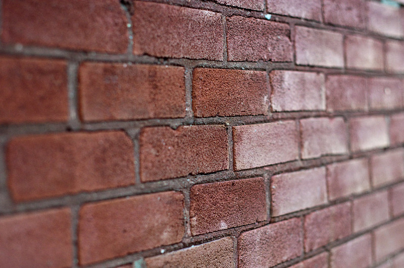 Brick wall (photo by Rob MacEwen via Flickr/Creative Commons https://flic.kr/p/6HKnGw)
