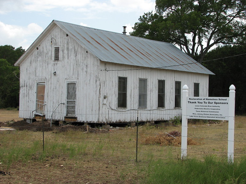 Nameless School in Nameless, TX (photo by QuesterMark via Flickr/Creative Commons https://flic.kr/p/53AsSS)