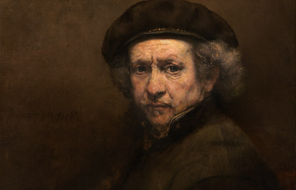 close-up of Rembrandt from a self-portrait. (via Wikicommons https://commons.wikimedia.org/wiki/Paintings_by_Rembrandt#/media/File:Rembrandt_van_Rijn_-_Self-Portrait_-_Google_Art_Project.jpg)