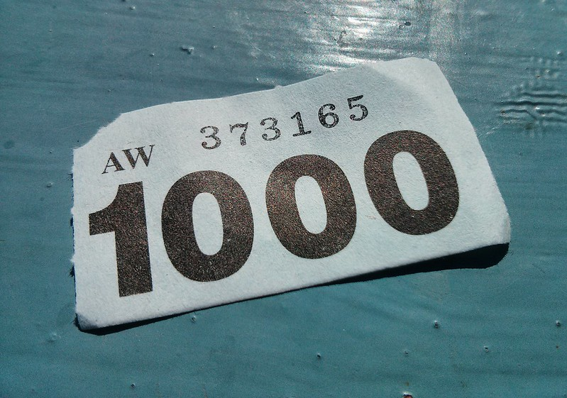 A race bib with the number 1000 on it. (Photo by Paul Downey via Flickr/Creative Commons https://flic.kr/p/eaXtDY)