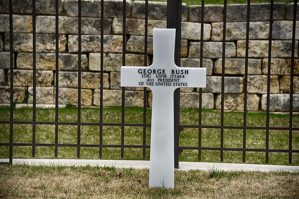 Grave marker for President George H.W. Bush
