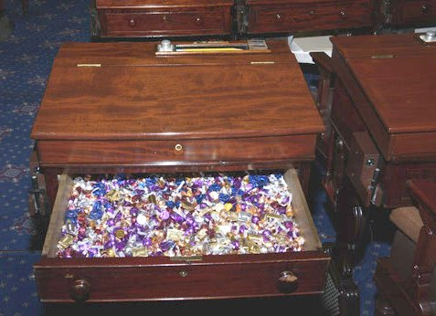 Senate candy desk