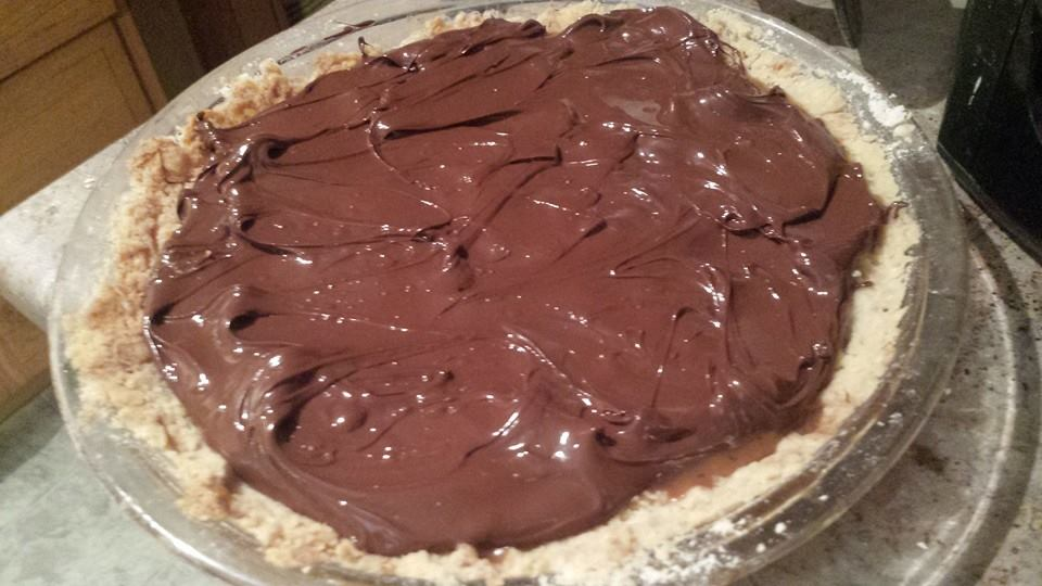 Homemade Nutella pie