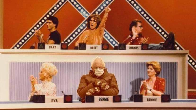 Bernie Sanders photoshopped into the set of the Match Game
