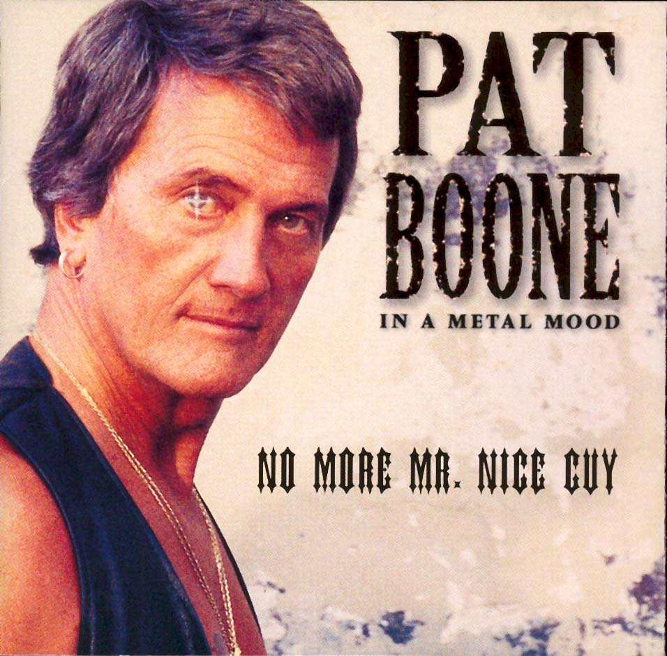 "Pat Boone ""In A Metal Mood"" album cover"