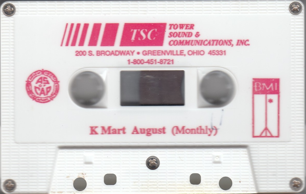 Kmart store cassette from August 1992