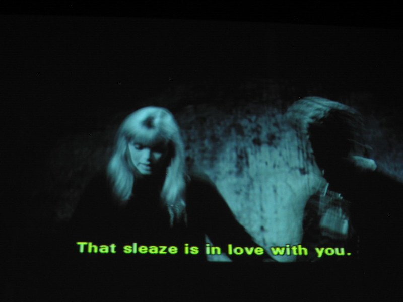 """A caption for a movie that says """"That sleaze is in love with you."""" (Photo by niceness via Flickr/Creative Commons https://flic.kr/p/gg4eR)"""
