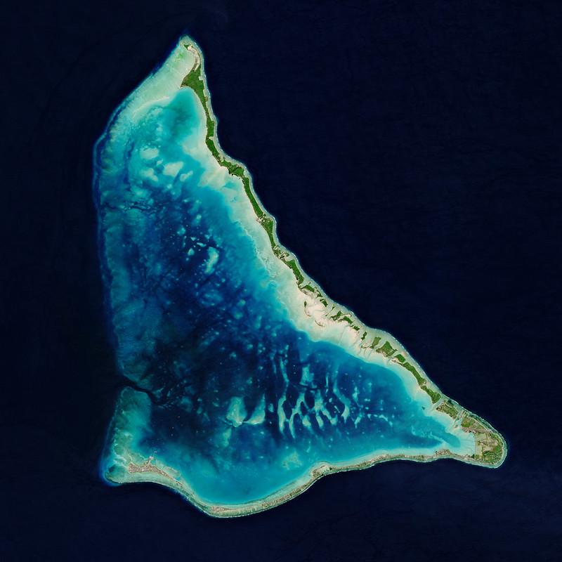 Overhead view of Tarawa Atoll, Kiribati. (European Space Agency via Flickr/Creative Commons https://flic.kr/p/2jL4t1m)