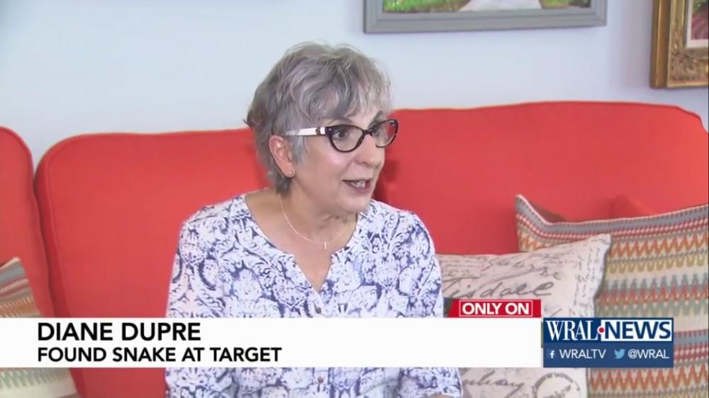 Diane Dupre: Found Snake At Target